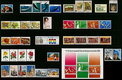 Australia & AAT MNH MUH Collection of Stamps - 1982 Year Collection