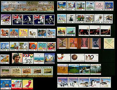 Australia & AAT MNH MUH Collection of Stamps - 1988 Complete Full Year