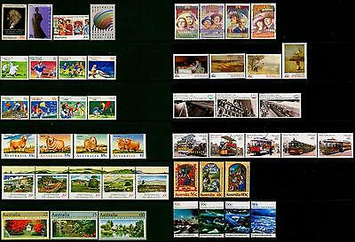 Australia & AAT MNH MUH Collection of Stamps - 1989 Complete Full Year
