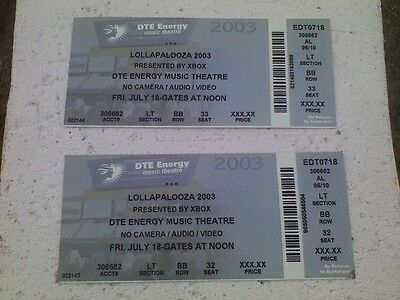 Queens Of The Stone Age & Janes Addiction Lollapalooza '03 Michigan 2 Tickets