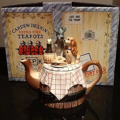Lady and the Tramp Collectible Teapot by Cardew