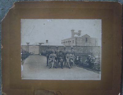 Boer War period photograph officers outside Central Military Prison