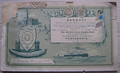 Royal Navy Portsmouth certificate for AB Frederick Forward HMS St George 1898