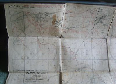 ww1 Original Linen trench map Moeuvres 1/20000 German trenches 1/11/17