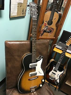 Harmony Stratotone 2 Pickup Guitar Like The Rolling Stones used In Early Days