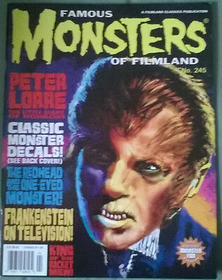 famous monsters of filmland # 245,july 2007,low circulation,very rare in uk