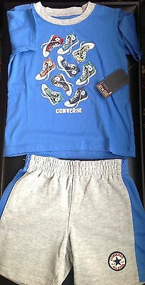 All star converse baby boy summer set shorts and top size:24 MTHS New