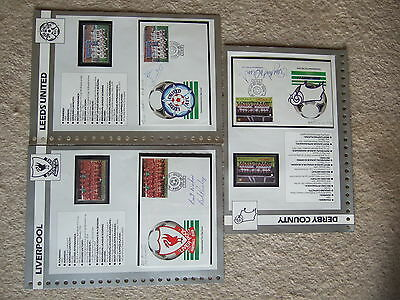 signed cover on double sided information card derby county roy mcfarland