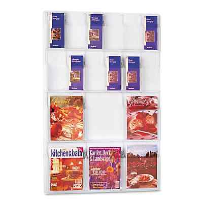 Safco Products 5600CL Reveal Literature Display, 6 Magazine and 12 Pamphlet, Cle