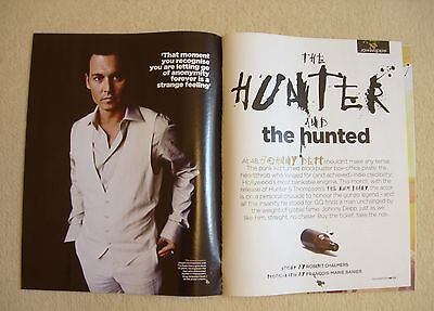9 Page Johnny Depp Clipping Gq Magazine (British) December 2011