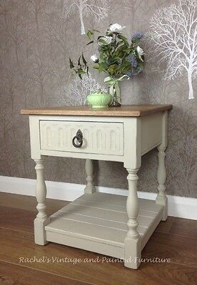 Vintage 'Oak' Small Coffee/Side/Telephone Table With Drawer/Painted Shabby Chic