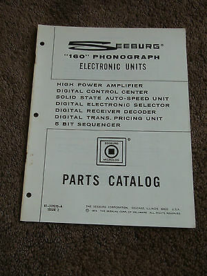 Seeburg 160 Phonograph Electronic Units Parts Catalog Manual Jukebox DEALER