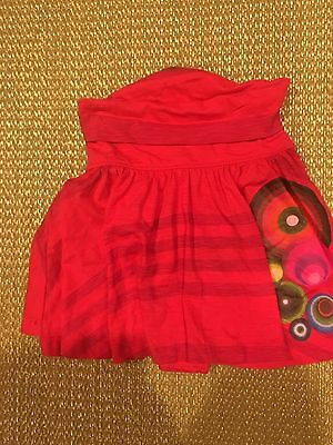Desigual size 7/8 cotton skirt flared hand-painted design NWT BARGAIN HERE!!