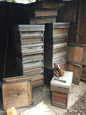 National Bee hives - various bits and pieces and complete hives