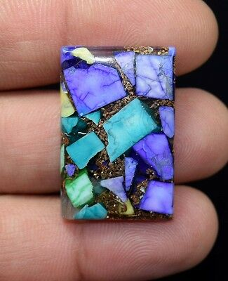 28.60  Cts.  Natural  Colorful  Howlite  Cushion  Cab Loose  Gemstones