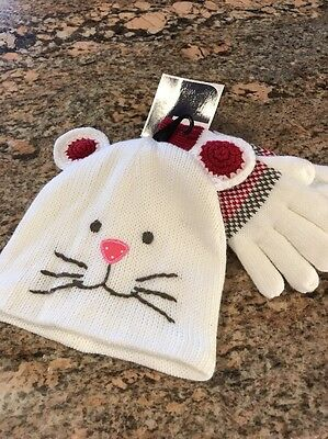 West Loop Girls Cat Hat And Glove Set NWT