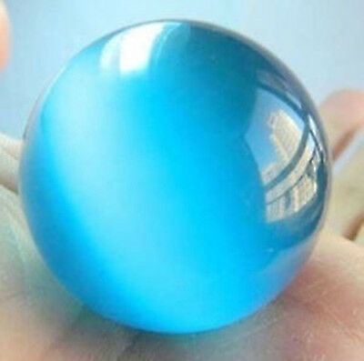 38-40mm Blue Mexican Opal Sphere, Crystal Ball/Gemstone+stand