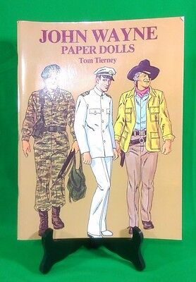 John Wayne Paper Dolls by Tom Tierney (1981, Paperback) Uncut 31 Outfits 2 Doll