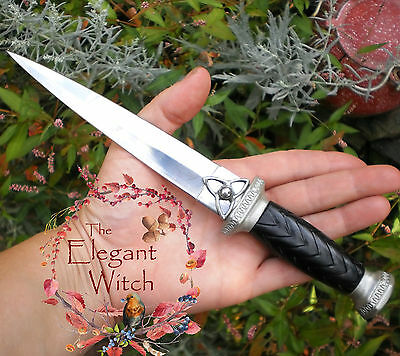 Traditional Charmed Celtic TRIQUETRA ATHAME Ritual Knife Wicca Pagan Witchcraft