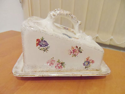 Vintage Flower  And Gilding  Cheese  Dish
