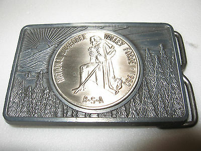 vintage 1950 national boy scouts jamboree belt buckle / BSA america valley forge