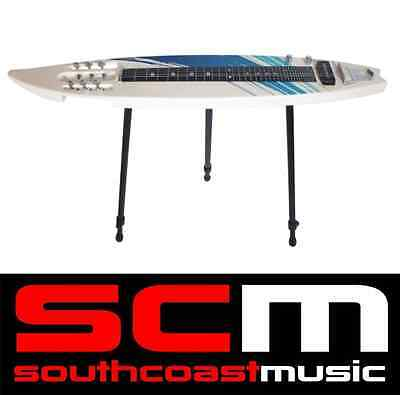 Mahalo 6 String Surfboard Shaped Lapsteel Lap Steel Guitar with Bag & Stand New