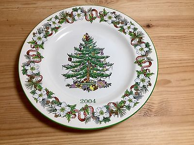 Spode The Christmas Tree Year Plate 2004 Holiday Collectible Plate England!