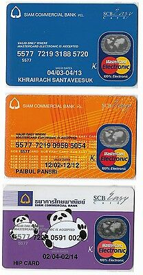 Mastercard Electronic Cards x 3