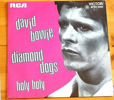 Rare David Bowie Diamond Dogs/Holy Holy RCA 7in 1974 45RPM VG APBO0293 France