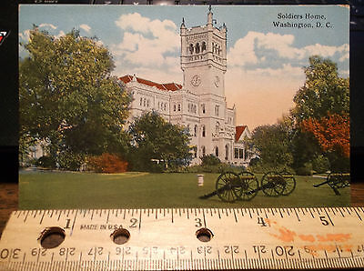 Soldiers Home General Scott Building Washington D.c. Vintage Old Postcard Blank