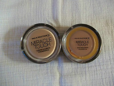 Max Factor Miracle Touch Liquid Illusion Foundation in various shades