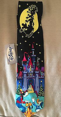 Disney Christmas Design 100%  Silk Neck Tie New With Tags