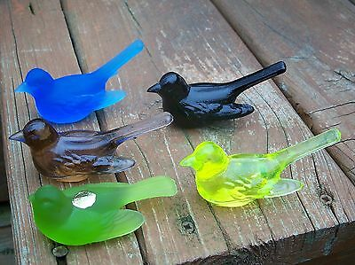 # 1 5 lot Beautiful Artist Crafted Westmoreland Glass  birds figurine