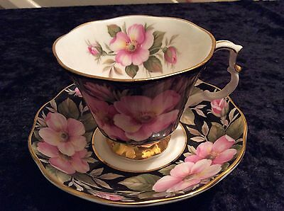 """ROYAL ALBERT PROVINCIAL FLOWERS """"ALBERTA ROSE"""" CUP AND SAUCER Vintage Cups"""