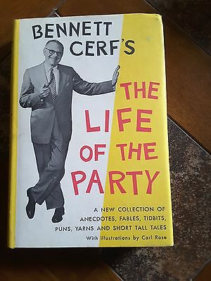 Bennett Cerf's The Life of the Party 1956 HC/DJ