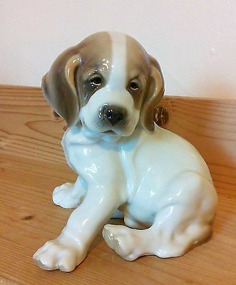 Rare Nymphenburg Germany Porcelain Puppy Excellent Condition