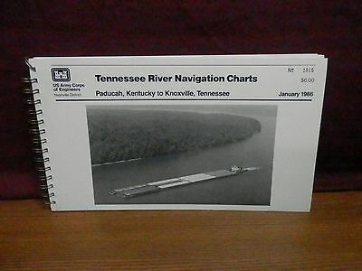 Tennessee River Navigation Charts 1986, maps, Paducah to Knoxville