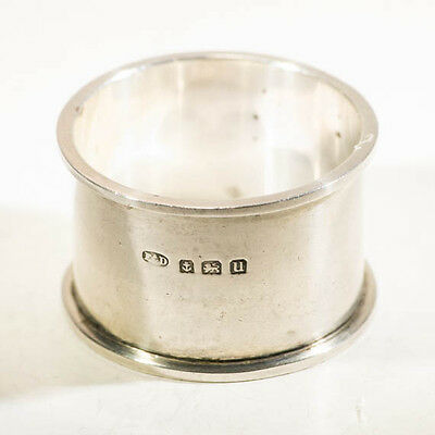 Antique silver napkin rings art deco period  sterling tableware