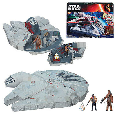Star Wars The Force Awakens Battle Action Millennium Falcon New In Box
