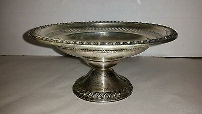 Sterling Silver Compote Weighted Roger's  1940