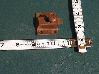 Lot Of 5 ** Cabinet Door Latches * Arts Craft Era / Quality,  Cast Iron / Brass