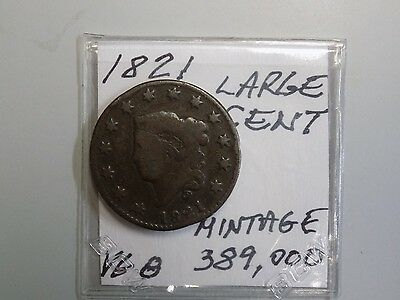 1821 LARGE CENT(low mintage).