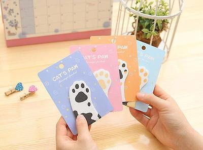 Cartoon Cute Cat Paw Shape Post It Sticky Notes Sticker Marker Memo Notepad Gift
