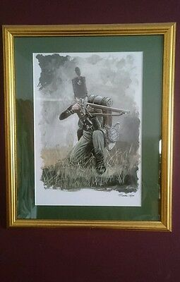 Signed limited edition military print 95th Rifles