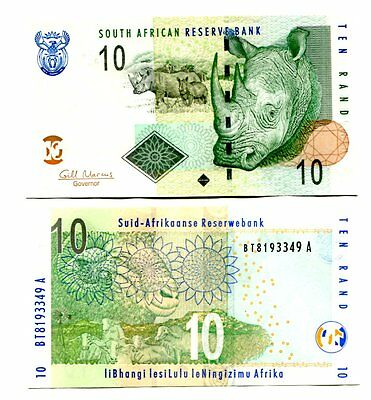 SOUTH AFRICA 10 RANDS ND(2009) P-128b UNC