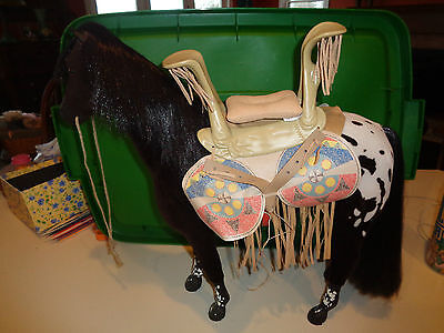 American Girl Doll Kaya's Horse Steps  Excellent W/ Saddle, Blanket And Pillow
