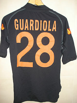 Camiseta Football Shirt As Roma Kappa Player Issue Guardiola Barcelona Sin Meyba