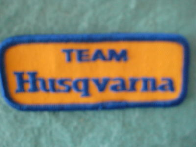 "Vintage Team Husqvarna Motorcycle Racing Patch 3 3/4"" X 1 1/2"""