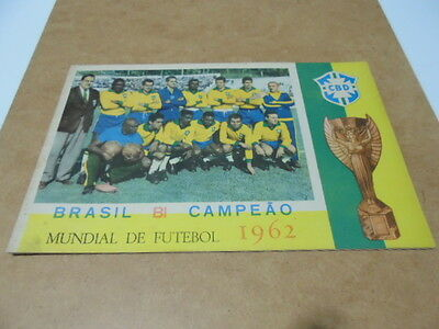 1X 100% Full Set And Very Rare World Cup 62 Brazil Album Printed Sticker