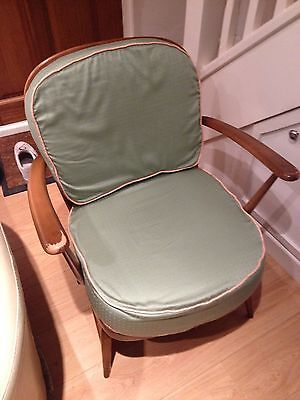 Ercol 334 Wood Chair With Cushions 50s/60s